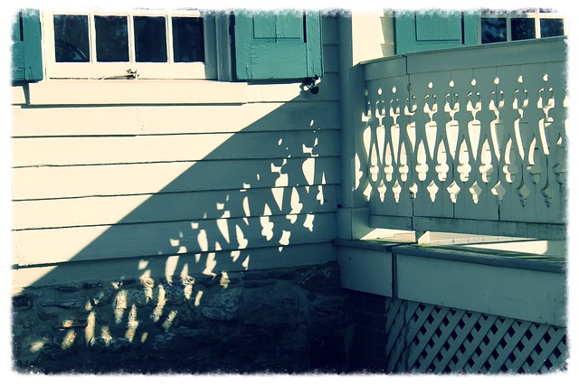 Hampton NHS ~ Lower House porch shadows