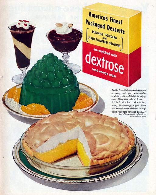 Dextrose Dessert Ad 1950