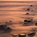 Sunset, rocks, surf, Malibu 11/27/09