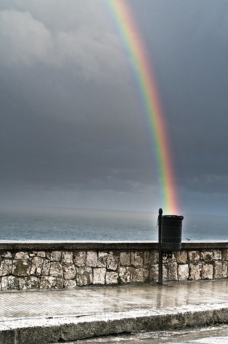Rainbow in the trash can | by Herman Rhoids