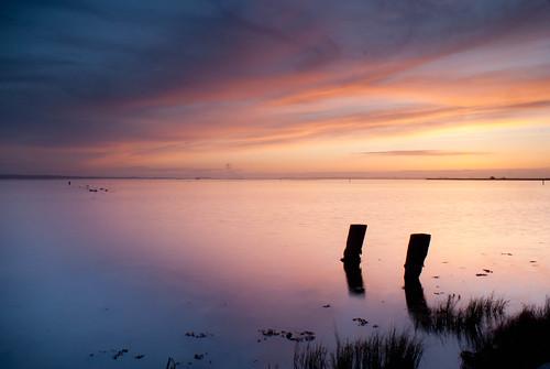 county bridge sunset humboldt long exposure sony rail clay marsh pilings a200 arcata carey