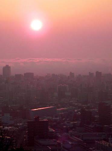 japan sunrise sapporo nikon hokkaido cityscape earlymorning 北海道 札幌 旭山記念公園 asahiyamamemorialpark 旭山記念公園 札幌