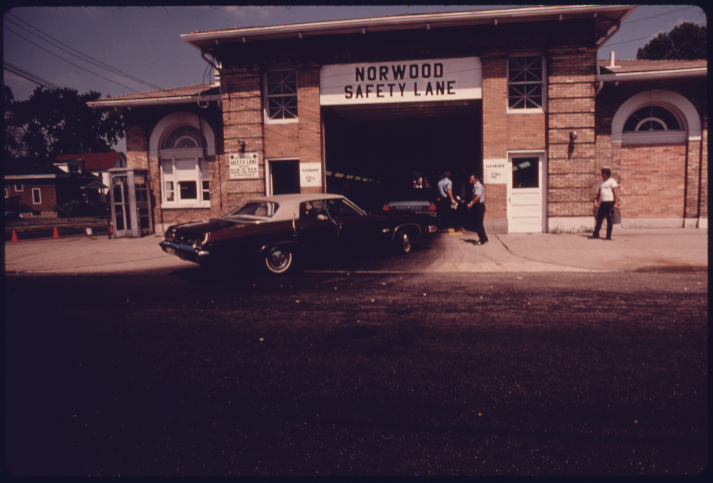 Norwood, Ohio, Auto Emission Inspection Station, Part of a Hamilton County System in Which All Light Duty, Spark Ignition Powered Motor Vehicles Must Be Certified Annually...08/1975