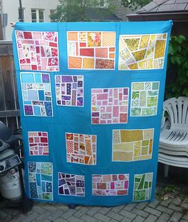 Rainbow Mosaic Quilt Top