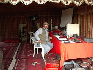 portable oscar shack at a desert tent