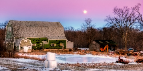 Pastel Moonrise At The Farm | by johnhenryf