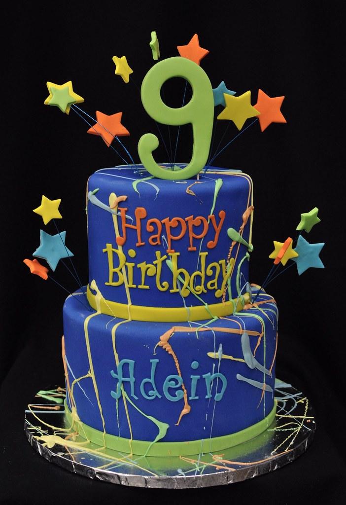 Miraculous Paint Splatter Birthday Cake Jenny Wenny Flickr Personalised Birthday Cards Sponlily Jamesorg