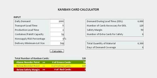 Kanban Card Calculator