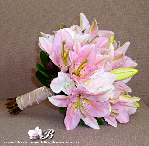 Pink Lily Orchid Bouquet Bridal Bouquet Of Pale Pink Orien Flickr