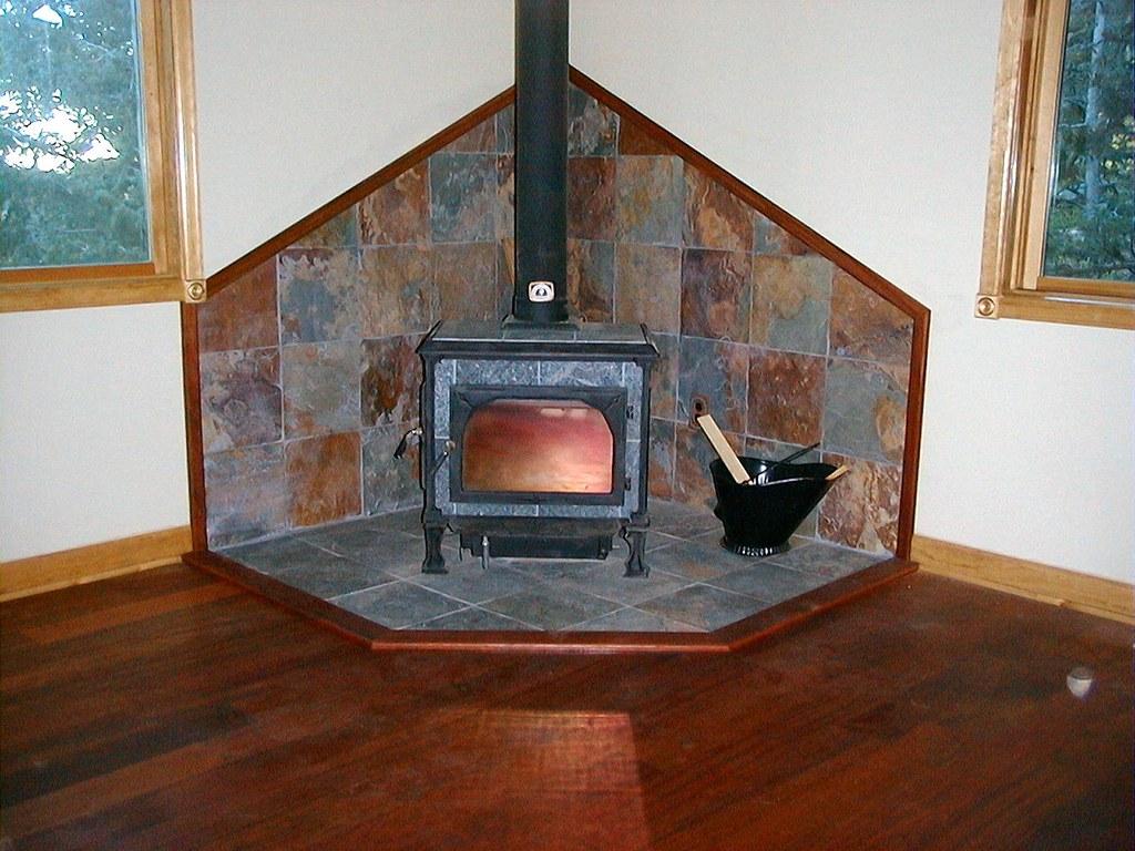 Slate Tile Wood Stove Surround This Slate Tile Wood Stove Flickr