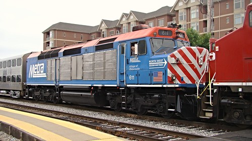 Metra Ex- Milwaukee road  #611 F40C.