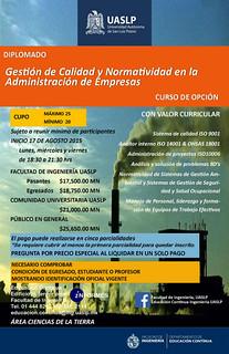 Invita UASLP a diplomado en Gestión de Calidad y Normatividad en la Administración de Empresas.   by La Jornada San Luis