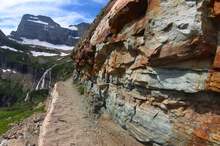 Rock outcrops on the approach to Grinnell Glacier | by roy.luck