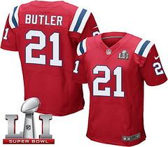 Nike Patriots #21 Malcolm Butler Red Alternate Super Bowl LI 51 Men's Stitched NFL Elite Jersey