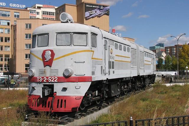 Dieselloc T3-2-522 in Ulaanbaatar (Mongolië) op 16-9-2009.
