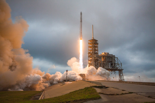 Falcon 9 and Dragon lift off from Launch Pad 39A for CRS-10 | by Official SpaceX Photos