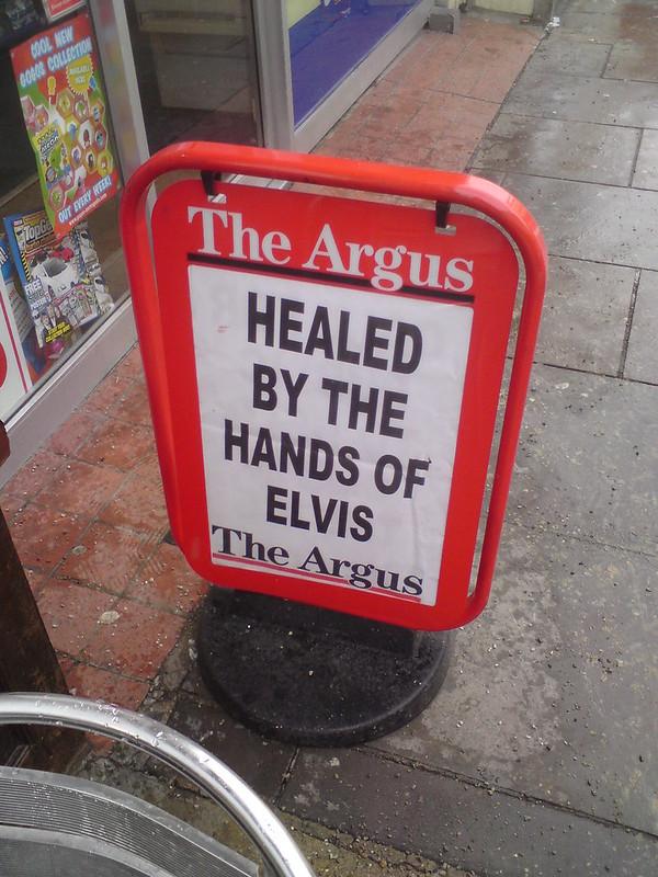 Healing hands of elvis!