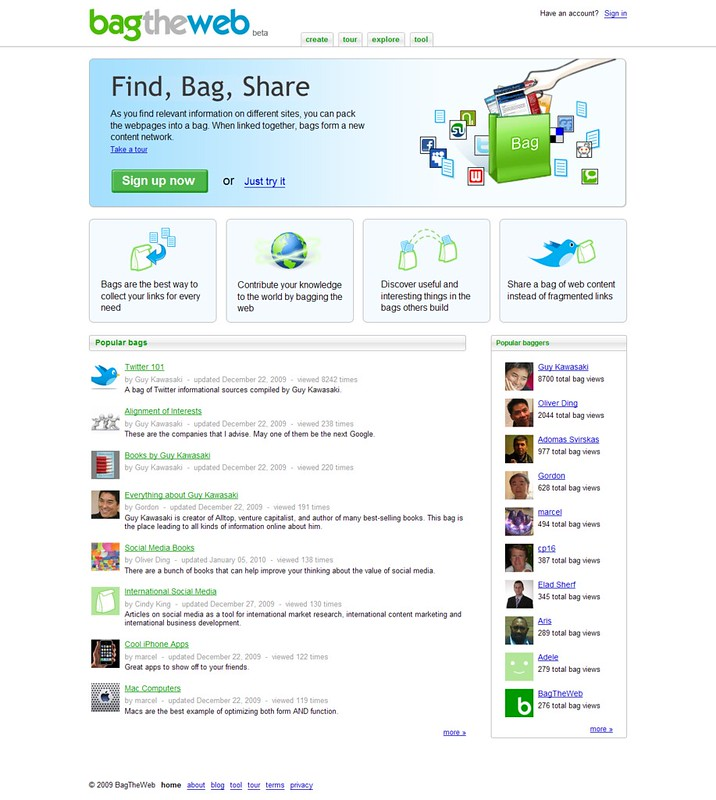 Homepage - BagTheWeb_20100112