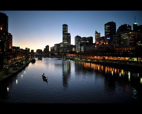 city travel sky reflection water silhouette skyline buildings river lights evening boat twilight nikon waves sailing skyscrapers australia melbourne victoria yarra sailor d90