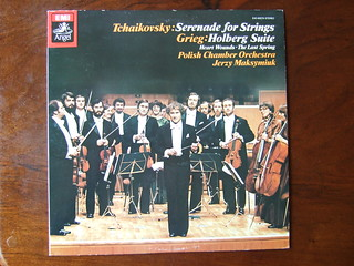 Tchaikovsky - Serenade for Strings, Grieg - Holberg Suite, Heart Wounds, Last spring - Polish Chamber Orch., Jerzy Maksymiuk, EMI Angel, Japan 1979