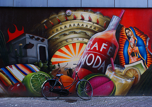 friends netherlands bicycle mural maria madonna mary nederland denhaag explore bici 1001nights murales thehague olanda fiets bicicletta zuidholland muurschildering laja theperfectphotographer