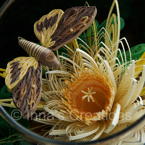 Quilling in a fishbowl, closeup   by Inna's Creations