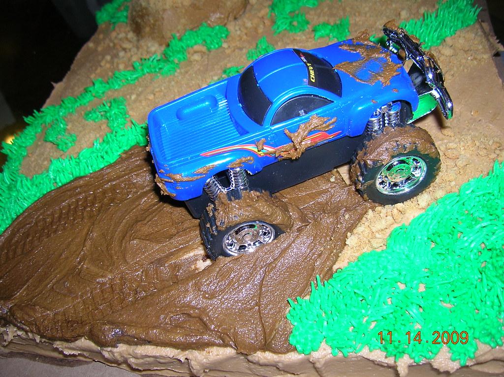 Superb Truck Mudding Cake Pam And Patsy Borden Flickr Funny Birthday Cards Online Aboleapandamsfinfo