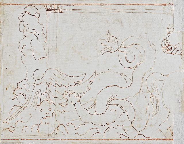 Nicolas Poussin - Scylla & Centaur (~ 1645) - study after a Roman original in Naples