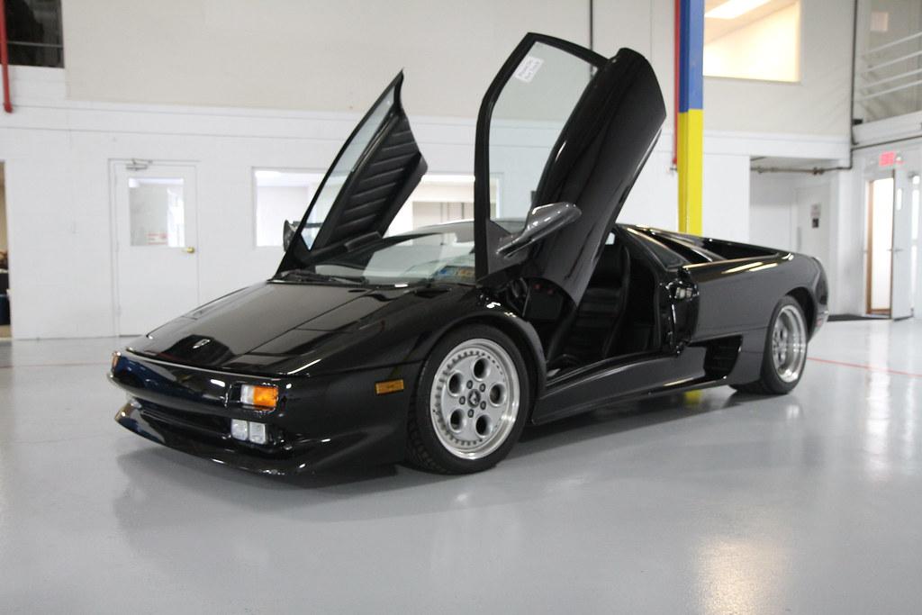Crystal Clean 1991 Lamborghini Diablo Black Flickr Photo Sharing