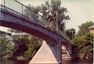 Belleville, Footbridge over the Moira River 1973