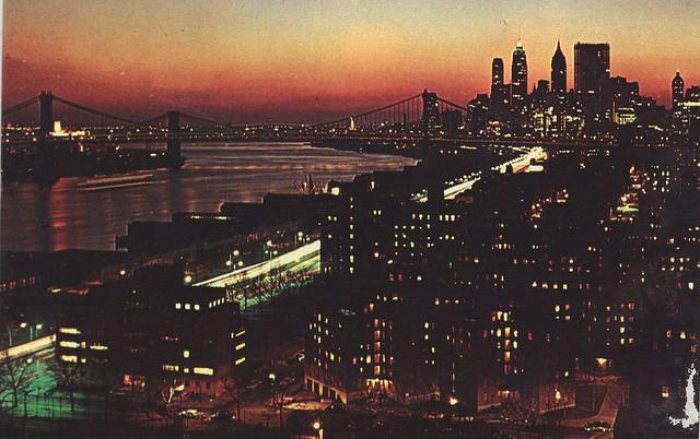 New York City  / East River 1960s
