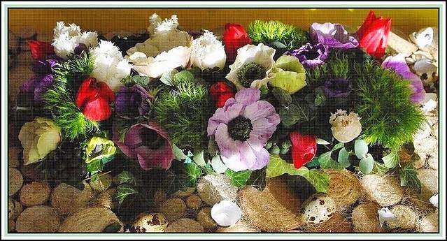 My Easter floral arrangement