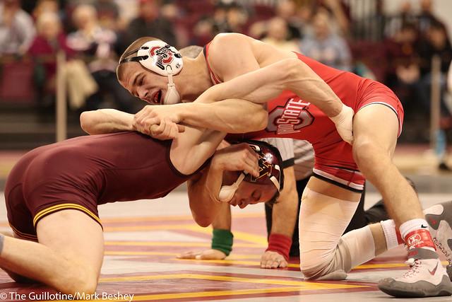 149 #5 Micah Jordan (Ohio State) tech fall Brandon Kingsley (Minnesota) 22-5 (7:00)