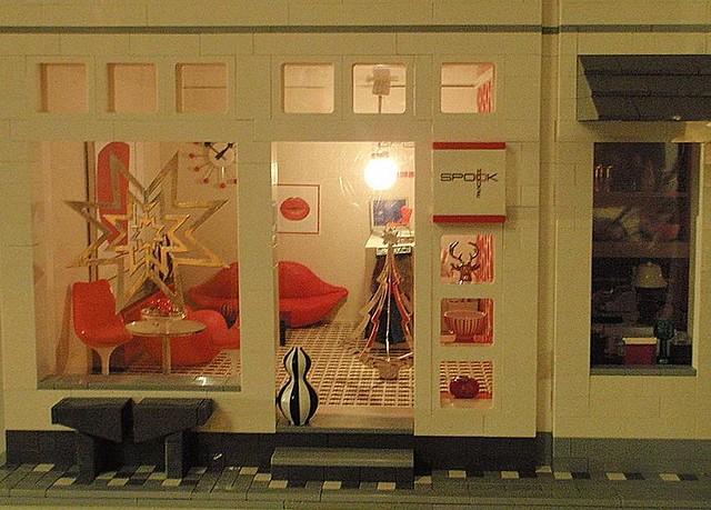 Spook House Christmas window