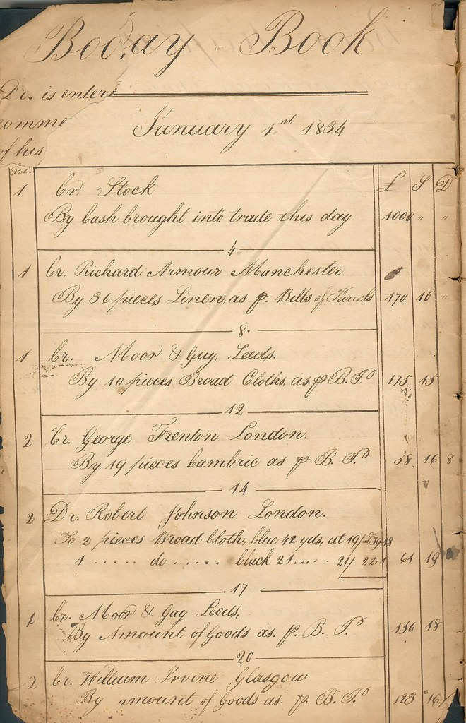 Day Book January 1st 1834
