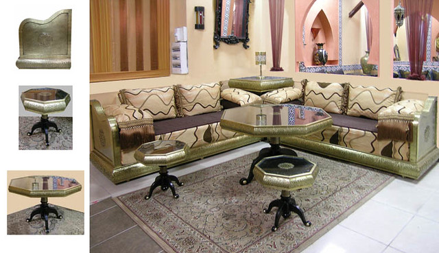 ... Idrissi Cuivre Jaune SALON MAROCAIN A PETIT PRIX | By Salon Marocain