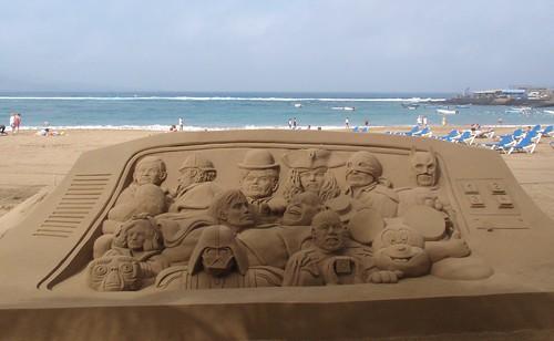 Personajes del cine en arena.Sand Art Treits 07-02-2010.Playa de Las Canteras.Gran Canaria. | by El Coleccionista de Instantes