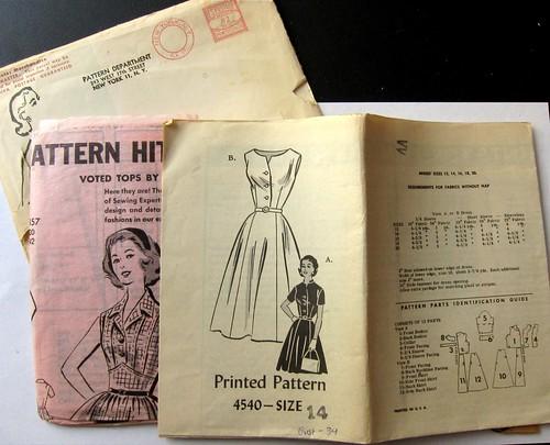 Vintage Mail Order Printed Pattern 4540 Dress | by M1khaela