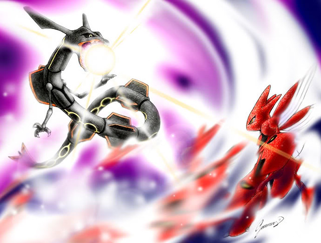 Rayquaza (shiny) vs  Scizor | Dragon Storm | Flickr