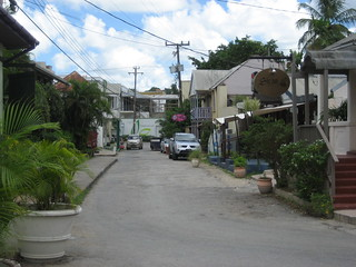 The street outside the Mango Bay Resort, Holetown, Barbados