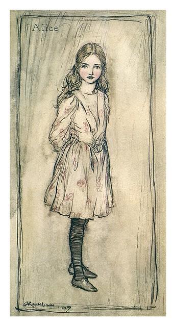 001-Alice-Alice's adventures in Wonderland-1907- Arthur Rackham