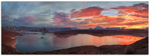 lakepowell glencanyondam sunrise page arizona