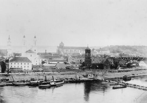 Kauno senamiesčio panorama nuo Aleksoto