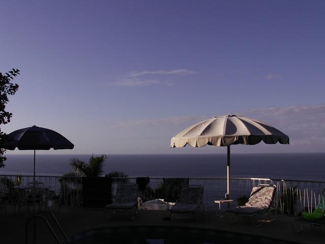 pool edge at dawn