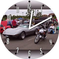 Harold's Corvette & Harley | by customclockface