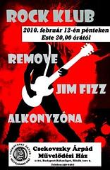 2010. február 10. 22:49 - Csekovszky Művelődési Ház: Rock Klub (február)