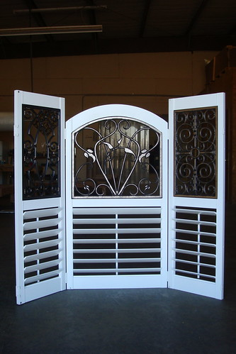 Faux Wrought Iron Shutter Inserts   The shutter inserts ...