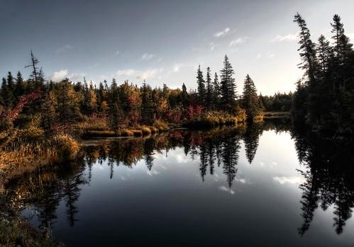 autumn canada fall water sunrise reflections novascotia nikond70s capebreton mira cs3 blackbrook photomatix hdr3ex