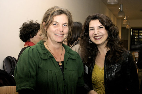 Lisa Finch, Interreg Project Manager - Fabrica and Helen Cadwallader, BPB Executive Director | by Brighton Photo Biennial (bpb)