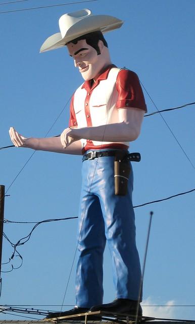 Vintage Cowboy Statue
